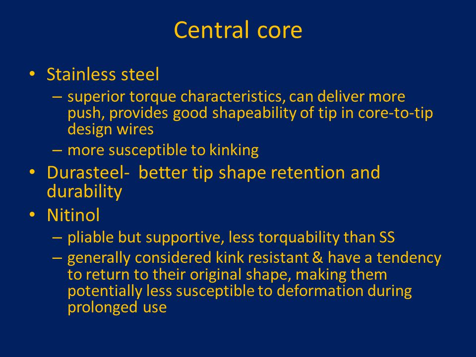 Central core Stainless steel