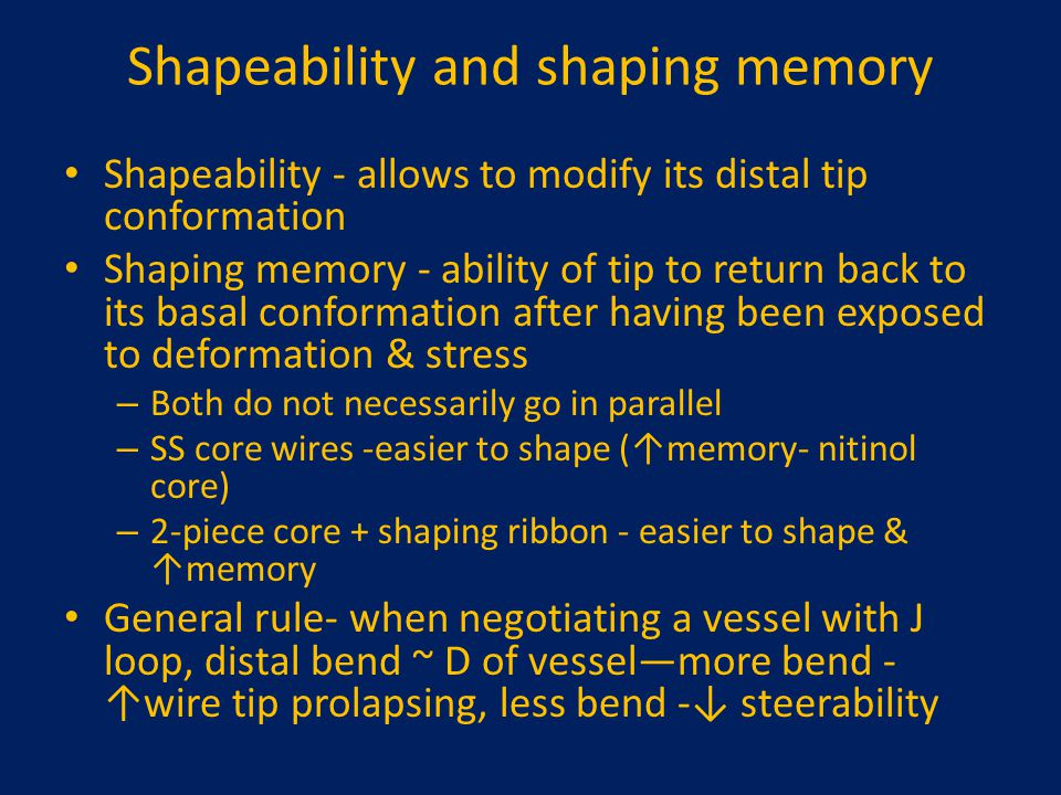 Shapeability and shaping memory