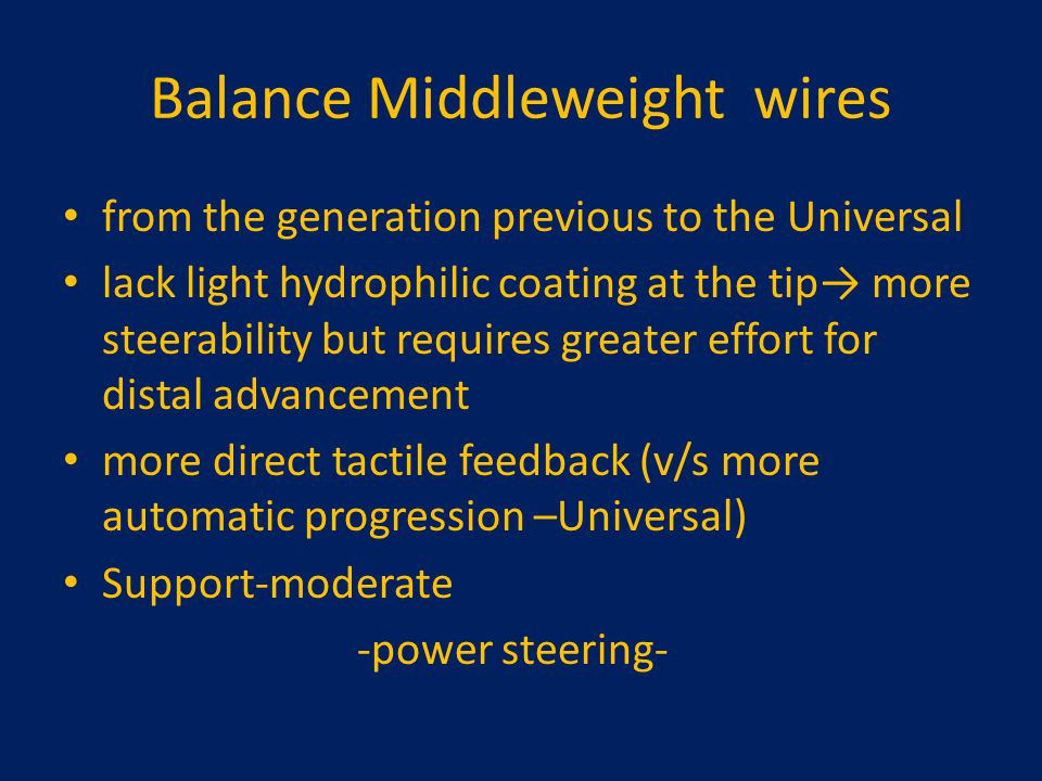 Balance Middleweight wires
