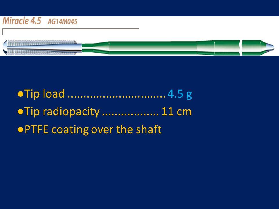 ●Tip load ............................... 4.5 g ●Tip radiopacity ..................