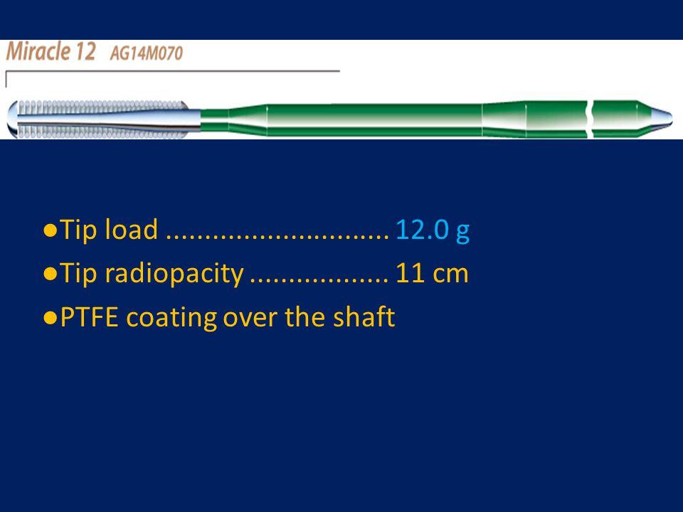 ●Tip load ............................. 12.0 g ●Tip radiopacity ..................