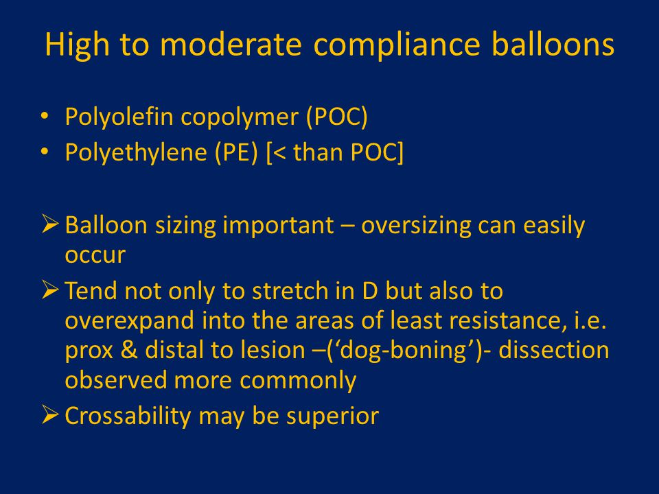 High to moderate compliance balloons