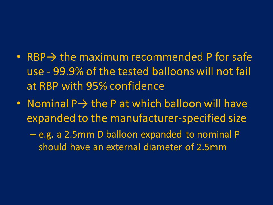 RBP→ the maximum recommended P for safe use - 99