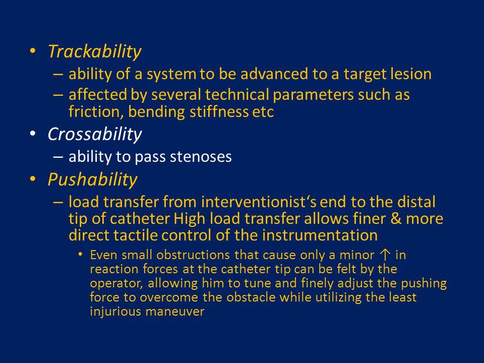 Trackability Crossability Pushability
