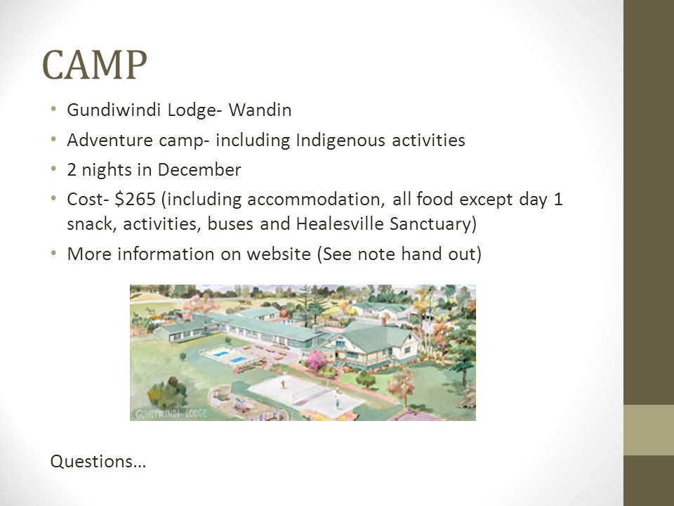 CAMP Gundiwindi Lodge- Wandin