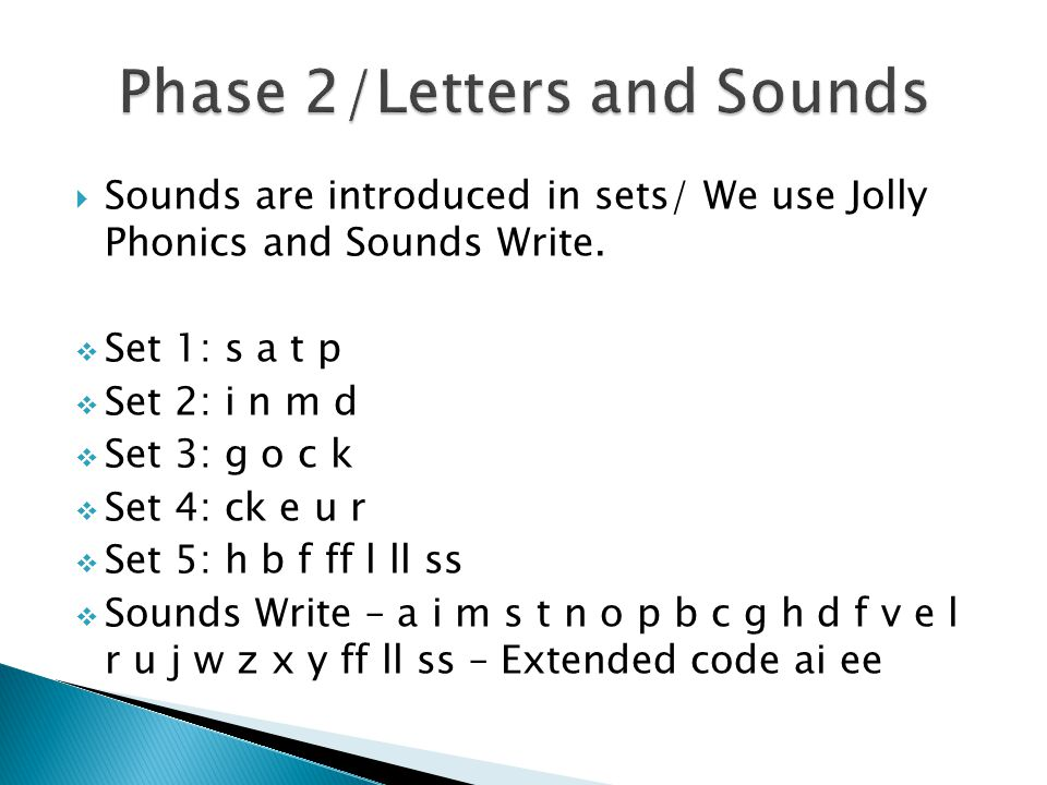 Phase 2/Letters and Sounds