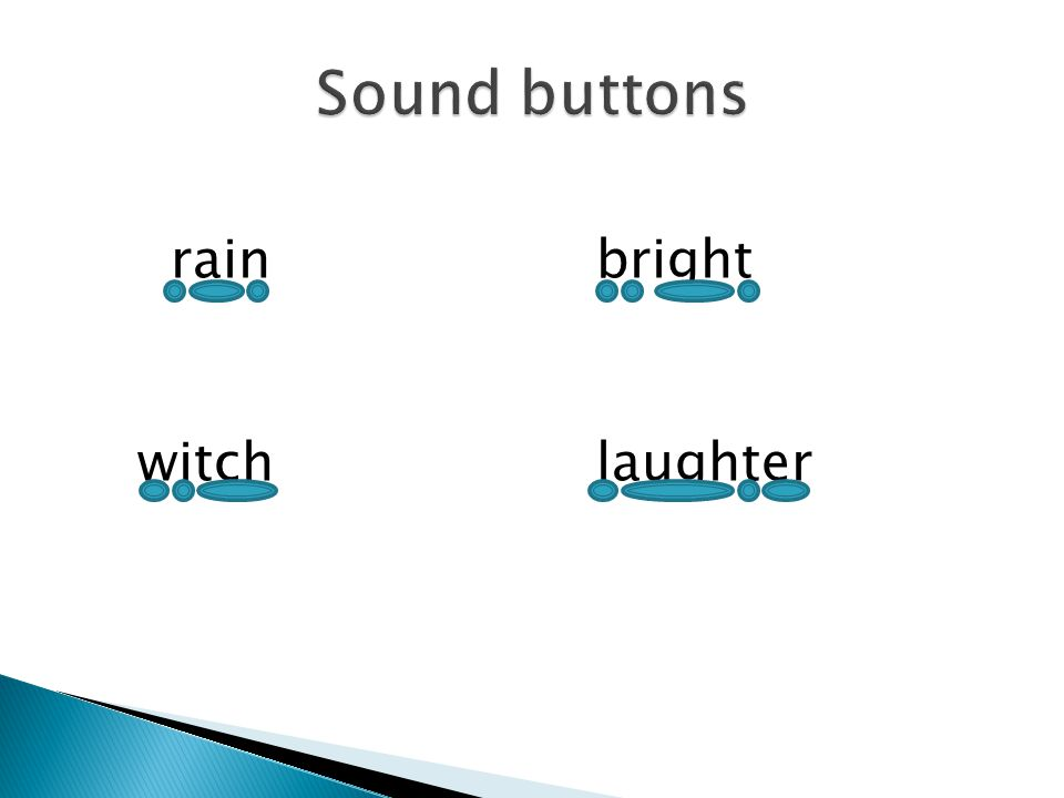 Sound buttons rain bright witch laughter