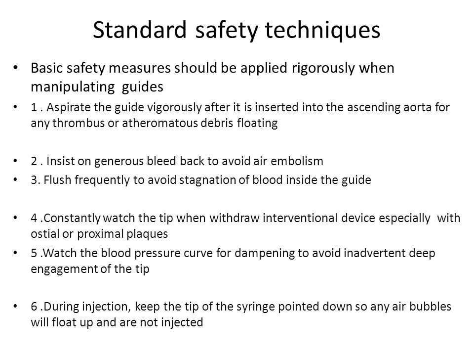 Standard safety techniques