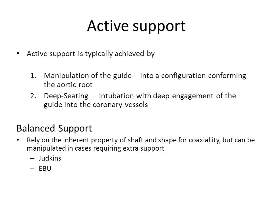 Active support Balanced Support