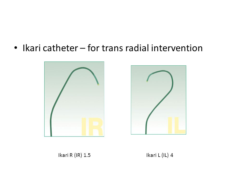 Ikari catheter – for trans radial intervention