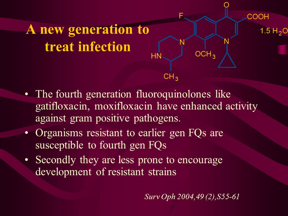 A new generation to treat infection
