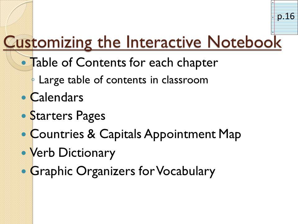 Customizing the Interactive Notebook