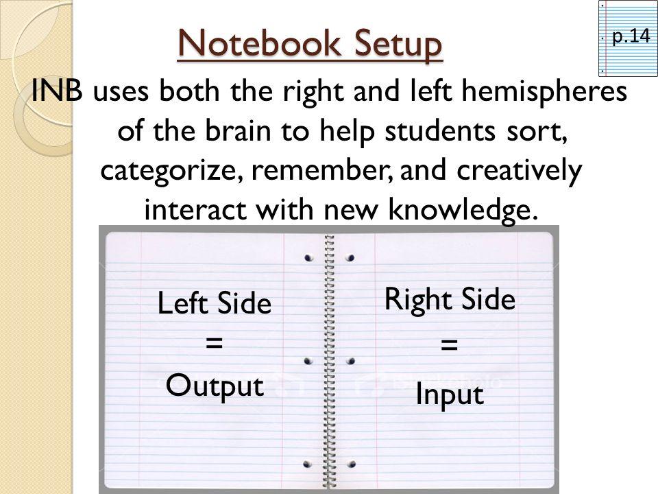 Notebook Setup p.14.