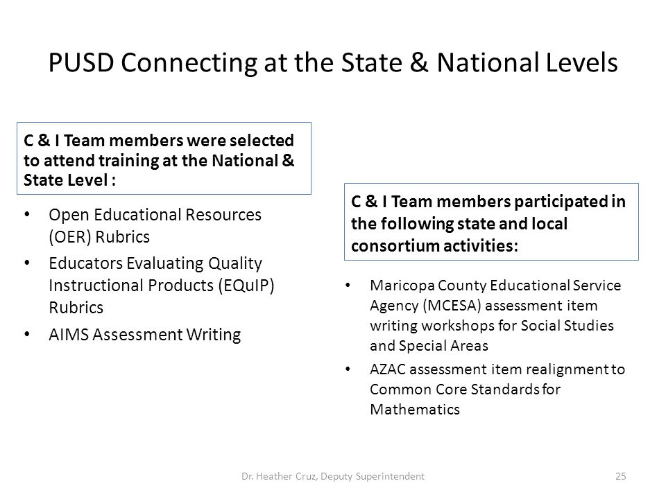 PUSD Connecting at the State & National Levels