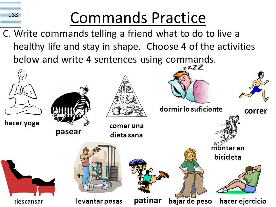 Commands Practice 163.
