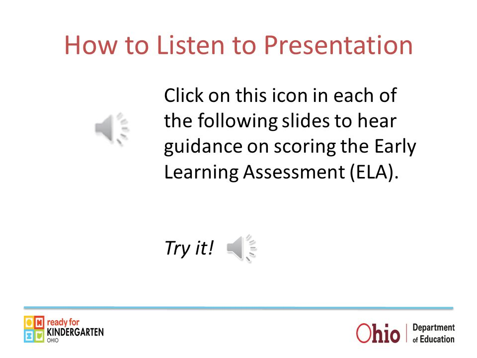 How to Listen to Presentation
