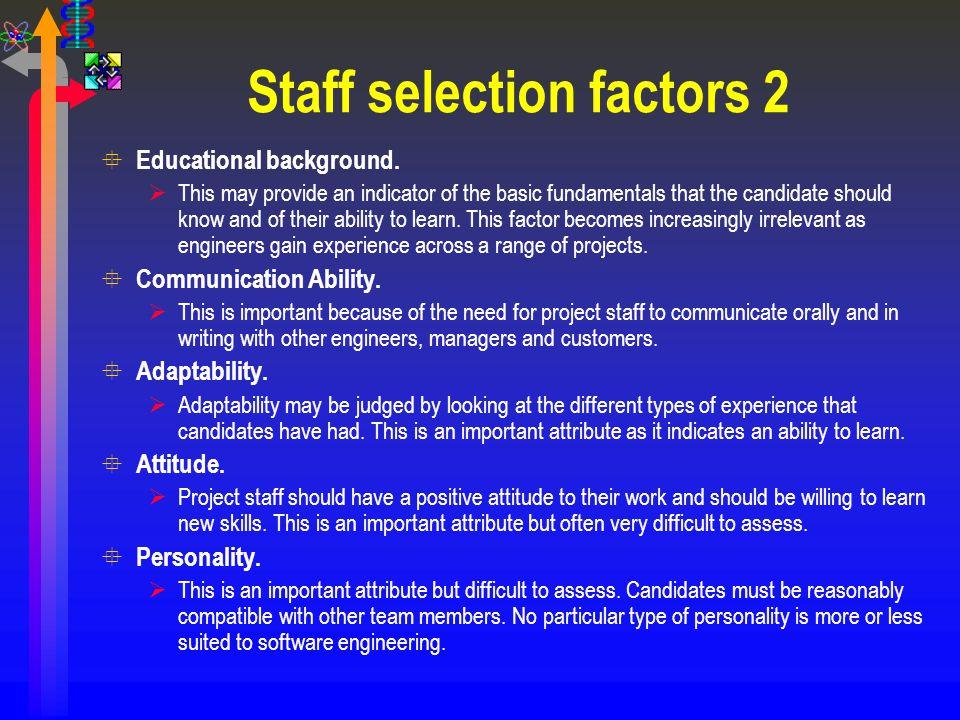 Staff selection factors 2