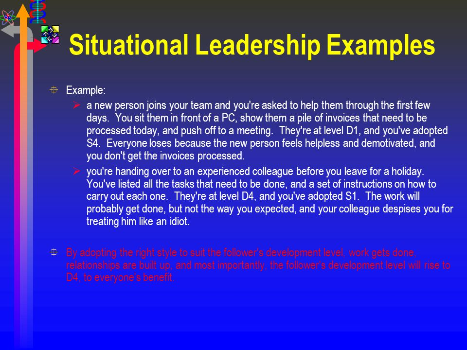 Situational Leadership Examples