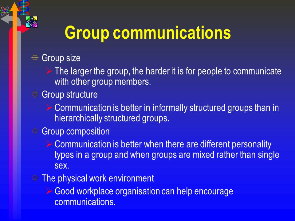 Group communications Group size
