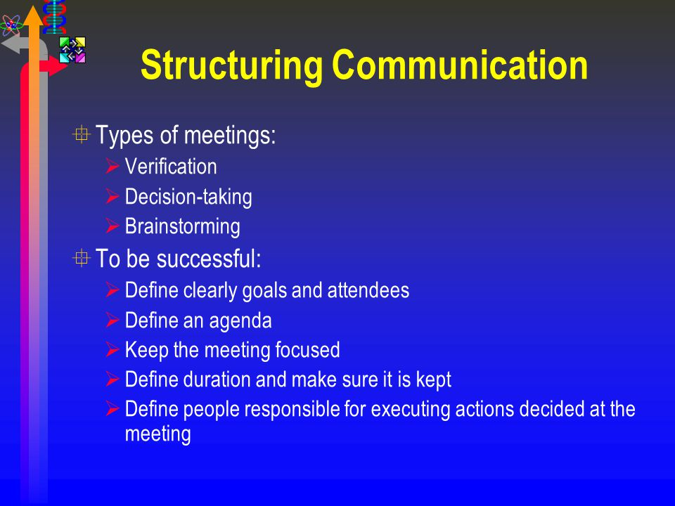 Structuring Communication