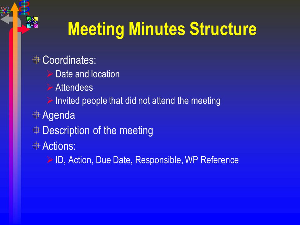 Meeting Minutes Structure