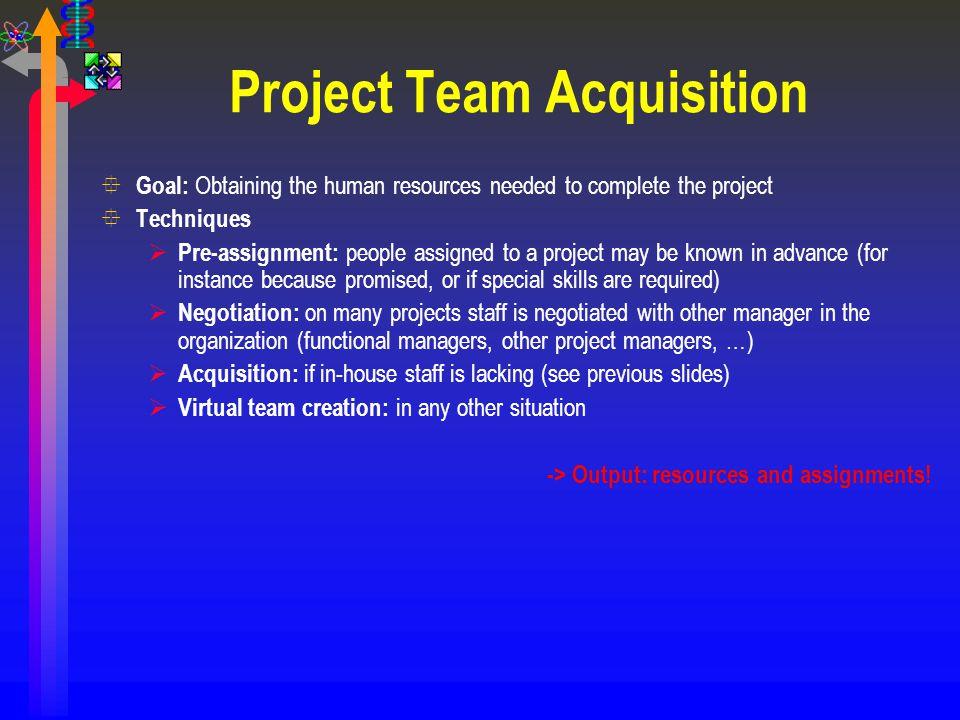 Project Team Acquisition