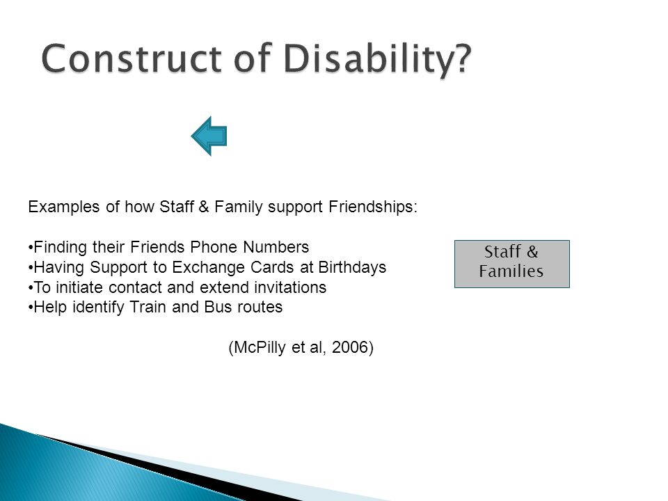 Construct of Disability