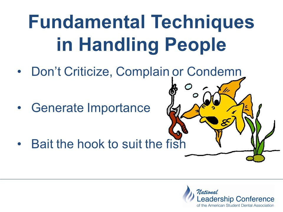 Fundamental Techniques in Handling People