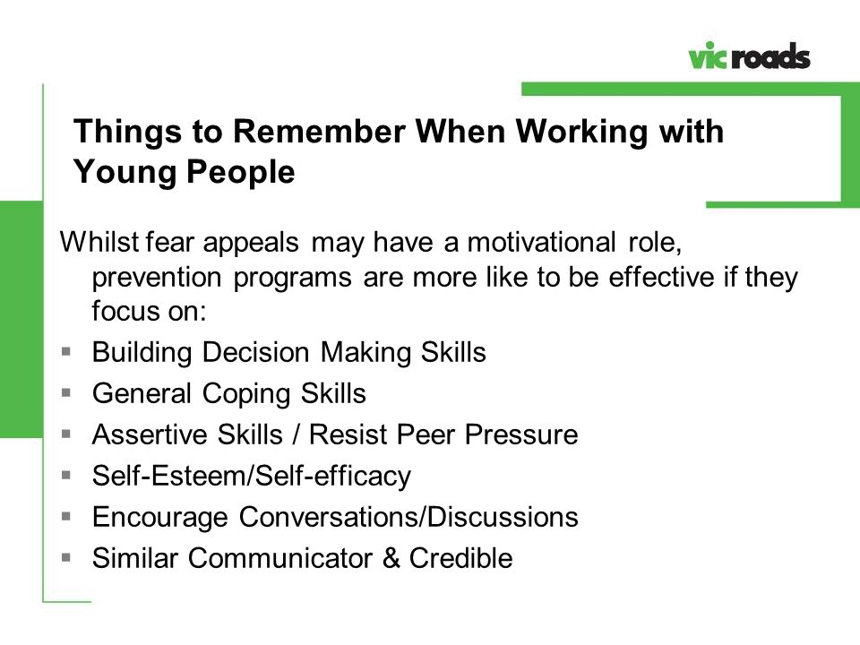 Things to Remember When Working with Young People