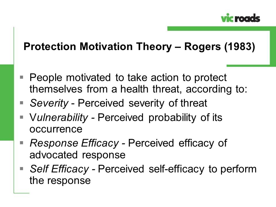 Protection Motivation Theory – Rogers (1983)