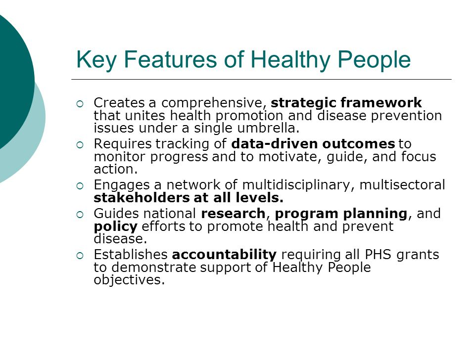 Key Features of Healthy People