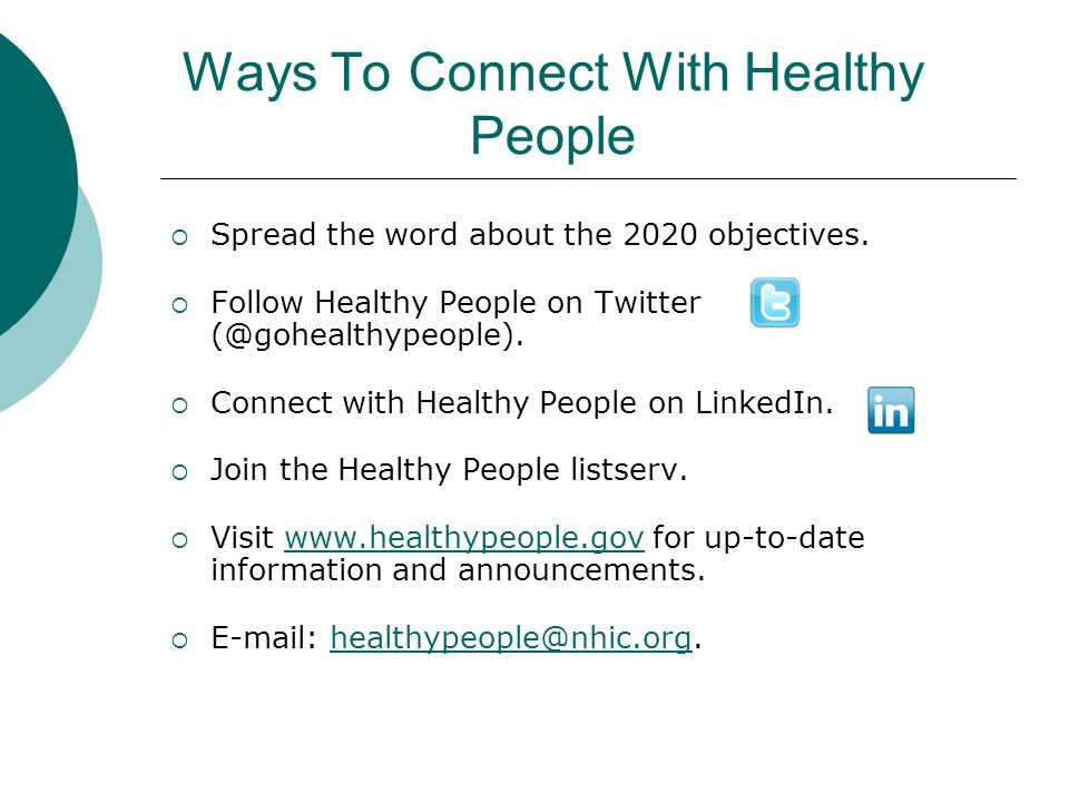 Ways To Connect With Healthy People