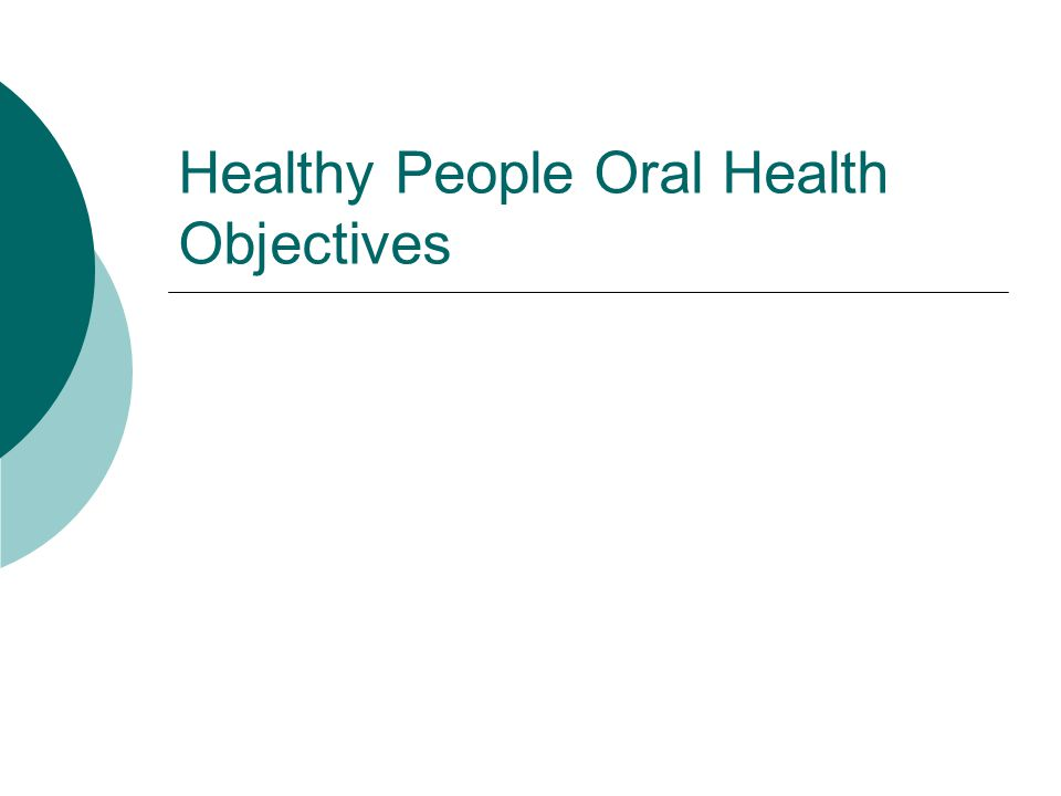 Healthy People Oral Health Objectives
