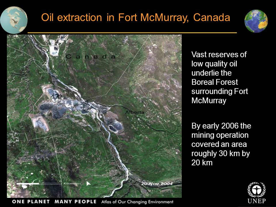 Oil extraction in Fort McMurray, Canada