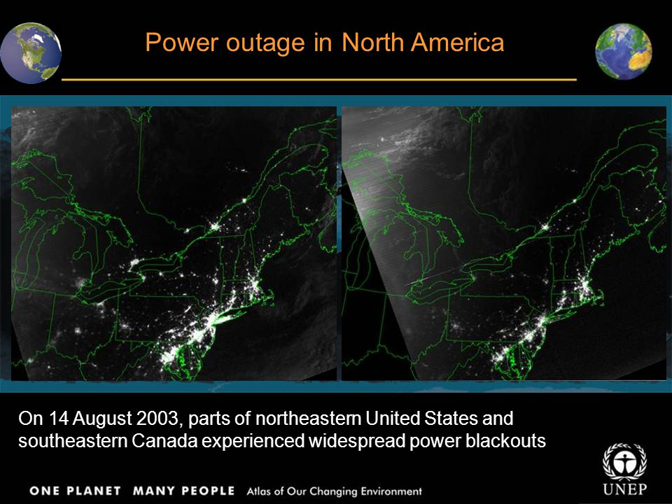 Power outage in North America