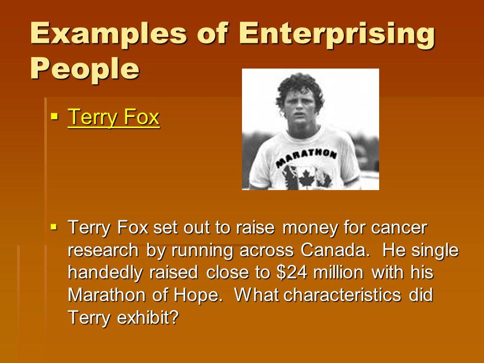 Examples of Enterprising People