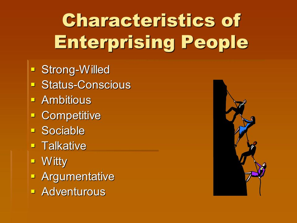 Characteristics of Enterprising People