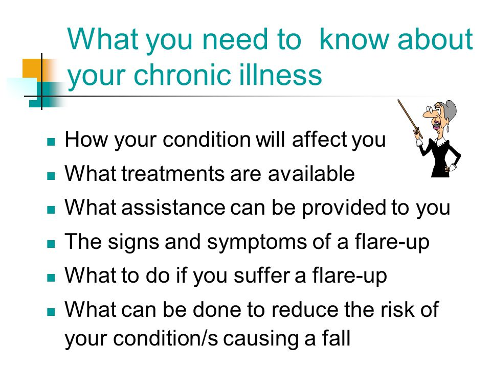What you need to know about your chronic illness