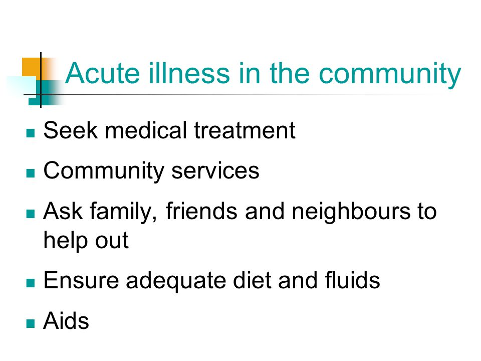 Acute illness in the community
