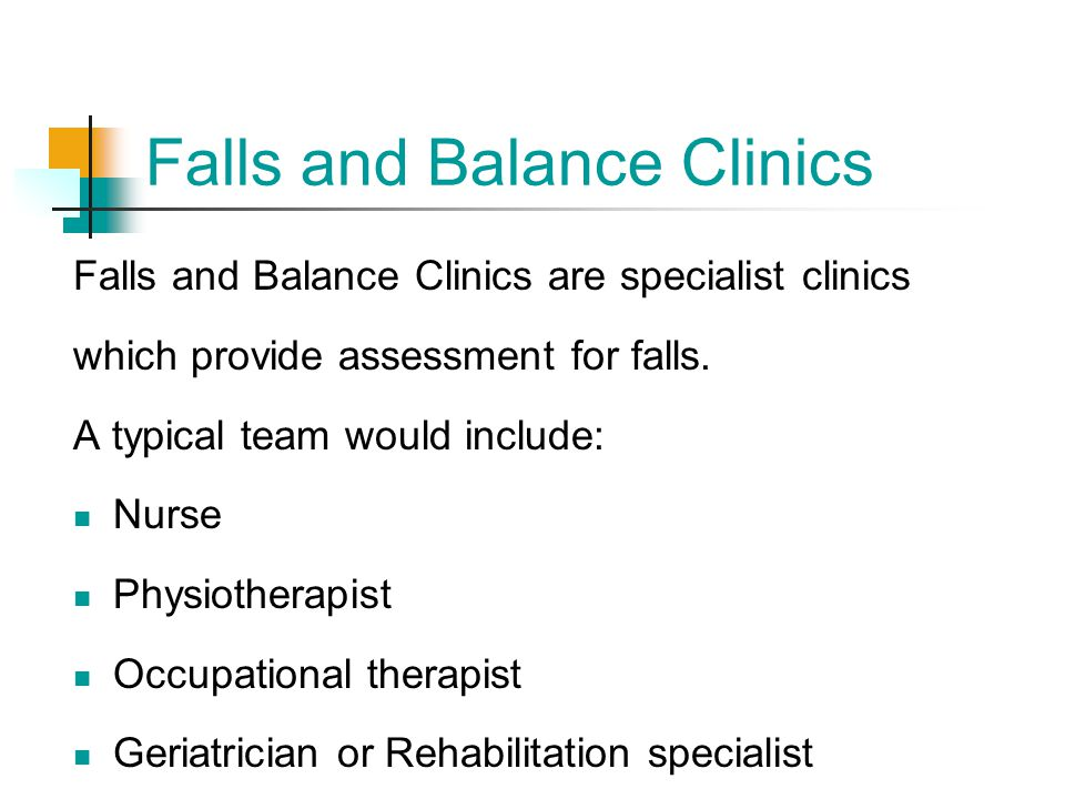 Falls and Balance Clinics