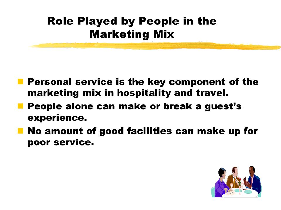 Role Played by People in the Marketing Mix