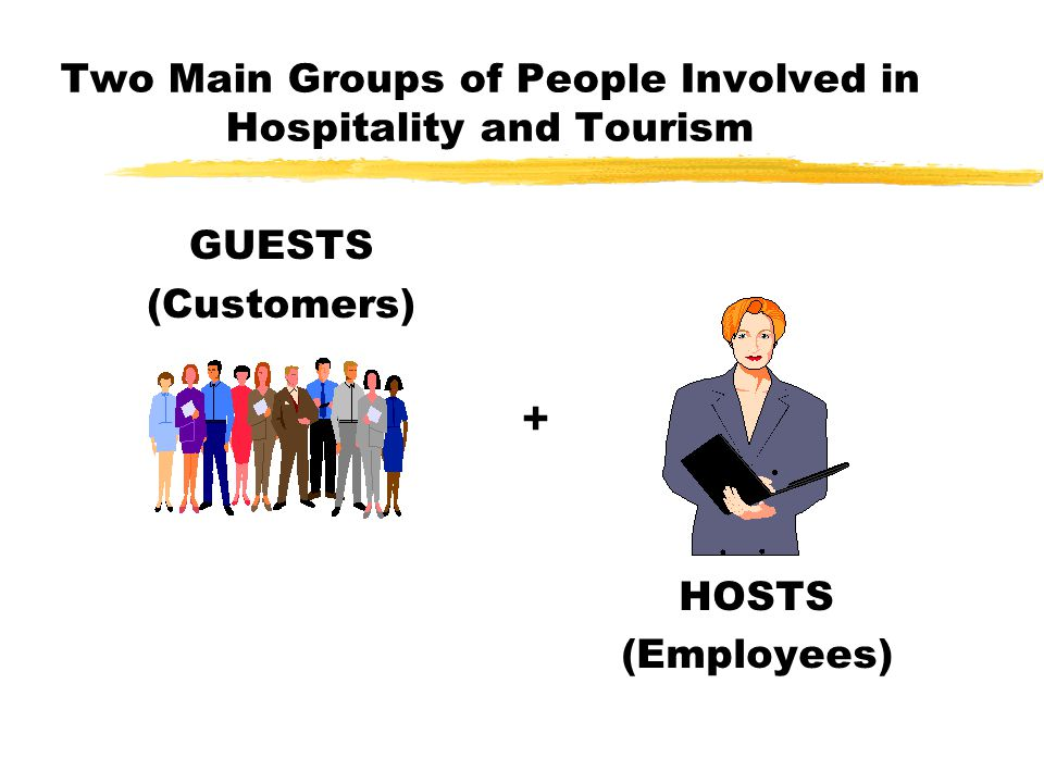 Two Main Groups of People Involved in Hospitality and Tourism