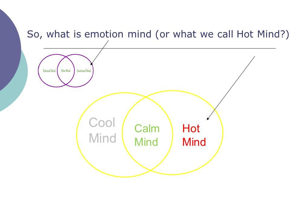 Cool Mind Calm Mind Hot Mind