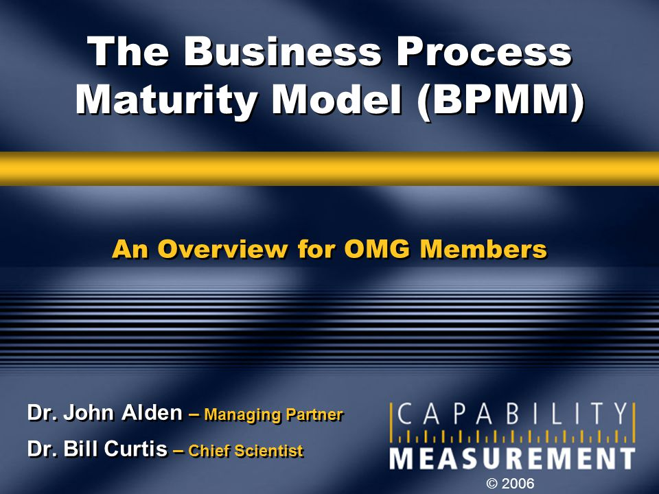 The Business Process Maturity Model (BPMM)