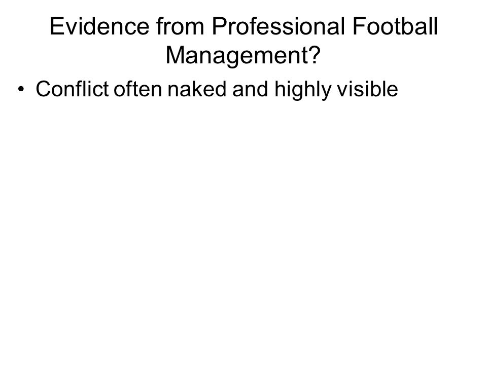 Evidence from Professional Football Management