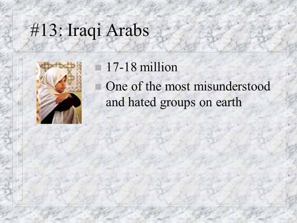 #13: Iraqi Arabs million