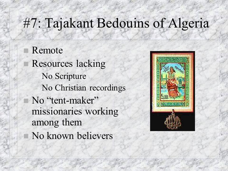 #7: Tajakant Bedouins of Algeria