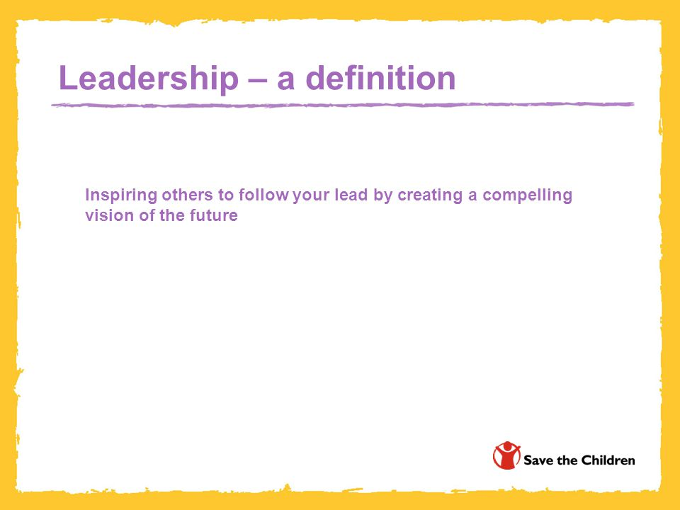 Leadership – a definition