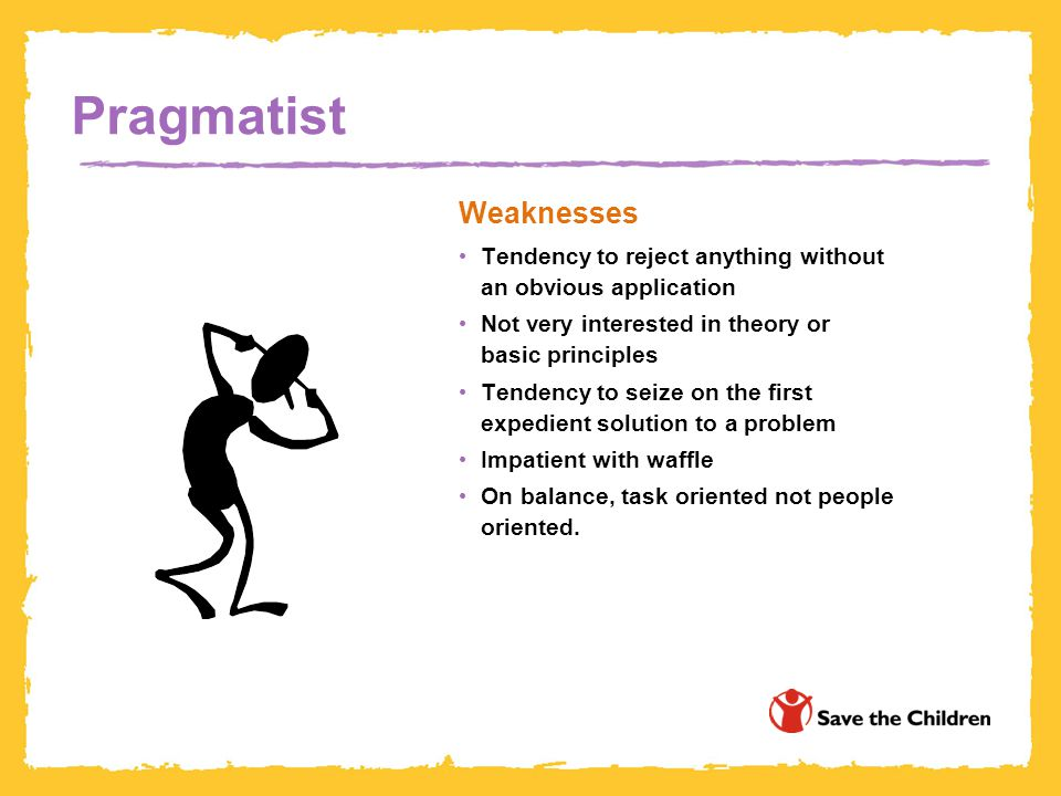Pragmatist Weaknesses