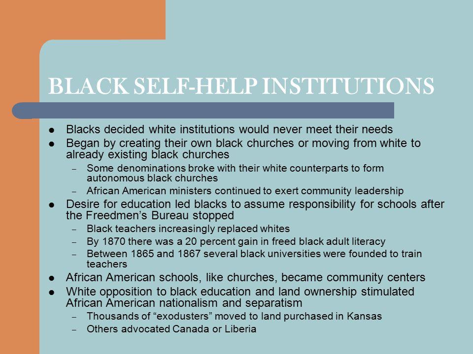 BLACK SELF-HELP INSTITUTIONS